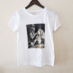 Victoria's Secret Angels White Poster Tee Top Sm